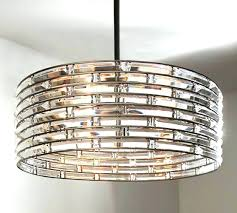clear acrylic round flushmount chandelier pottery barn kids pottery barn lighting chandeliers