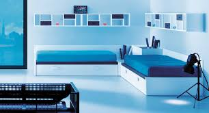 modern bedroom blue. Modern Bedroom Color Schemes With Ultra Double Single Bed And Blue Wall Painting Design For Interior In The R