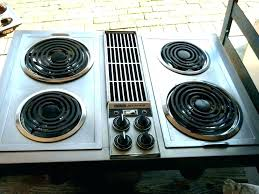 downdraft electric cooktop stove top with s air stainless range grill