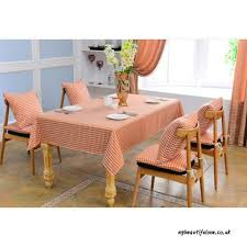 tablecloth fjh orange red classic fashion plaid restaurant dining table cloth living room round square coffee