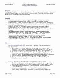 Sample Software Testing Resume Sample Resume Qa Tester Valid Software Testing Resume Format For 22