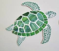 stained glass mosaic sea turtle