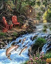 YUMEART DIY <b>Diamond Embroidery Landscape Painting</b> Full ...