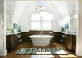 decoration white and brown color combination with striped extra large bath rugs for traditional luxury