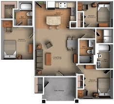 3 Bedroom Floor Plans Custom Decoration