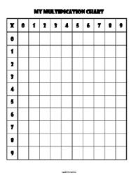 Multiplication 9 Chart Multiplication Chart Blank 0 9s