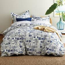 the company summer school 200 thread count cotton percale full duvet cover