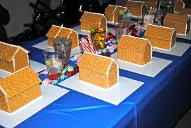 Premade Gingerbread Houses Polar Express Party Double The Fun Parties