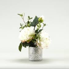 gold mercury glass vase large white peonies in pilsner gold mercury glass vase