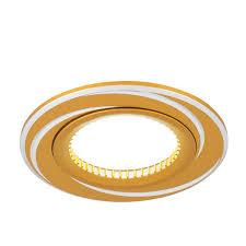 Купить <b>Светильник Gauss Aluminium AL015</b> Круг. Золото/Хром ...