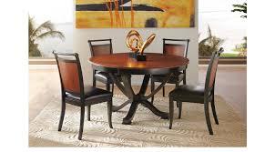 round dining room set. Orland Park Black 5 Pc Round Dining Set Room A