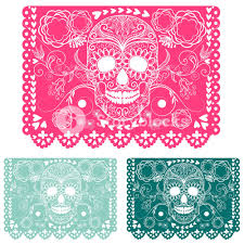 Papel Picado Designs For Day Of The Dead Day Of The Dead Decoration Papel Picado Royalty Free Stock