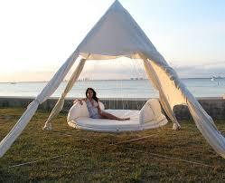 Furniture: Outdoor Floating Bed Hammock - Floating Beds