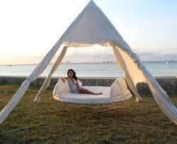 Furniture: Outdoor Floating Bed Hammock - Hammock