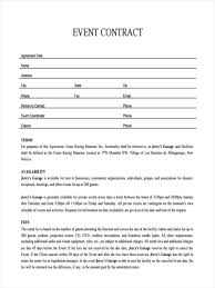 event agreement contract event contract template