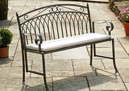Choose Metal Garden Bench  Metal Garden Bench Relax In The Garden Metal Bench