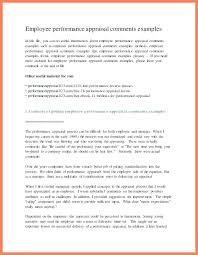 Employee Review Examples Phrases 4 Performance Appraisal Feedback