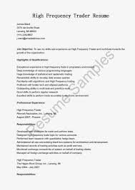 Sample Traders Resume Resume Samples High Frequency Trader Sample Free Resume