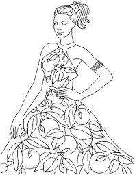 Small Picture Beautiful Fashion Model Coloring Page Coloring Pages Pinterest