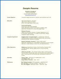 Resume Example Resume Template For High School Graduate Resume