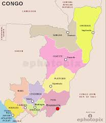 Map Regions Republic Congo Of The Country