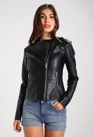 guess samantha faux leather jacket jet black women clothing jackets