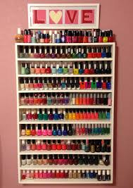 diy nail polish rack i combined diffe techniques that previous bloggers used choose what