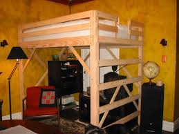 s full size loft bed plans