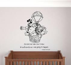 winnie the pooh wall art the pooh hot air balloon adventure wall decal the pooh wall