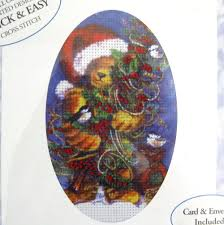 Candamar Designs Embellished Cross Stitch Candamar Designs Christmas Card Kit Bear Birds Embellished Cross Stitch 5 X 7 715448051667 Ebay