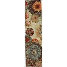 caravan medallion multi 2 ft x 8 ft rug runner
