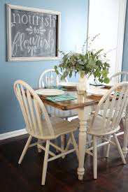 diy dining room table makeover. Painted And Stained Kitchen Table Makeover Diy Dining Room O