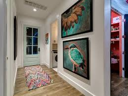 florists in edmond ok with beach style entry and bird wall art colorful rug contemporary light wood floors mint green accents mint green door modern beach