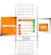 Calendario Septiembre De Semanas Comienzan El Domingo Stock Vector