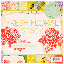 Flower Printed Paper 12 X 12 Stack Fresh Floral