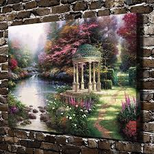 2019 thomas kinkade the garden of prayer scenery home decor hd printed modern art painting on canvas unframed framed from love3paintings 5 13 dhgate com