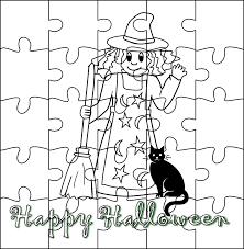 Coloriage Puzzle Halloween Imprimer Et D Couper Sur Jeudefille Com