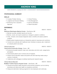 Nurse Educator Resume Examples Best Clinical Nurse Educator Resumes Resumehelp Resume Examples