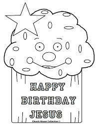 Happy Birthday Jesus Coloring Page Throughout - glum.me