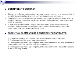 Contract Essential Elements Awesome CONTINGENT CONTRACTS AND WAGERING AGREEMENTS Ppt Video Online