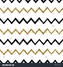 black and gold glitter chevron background. Seamless Chevron Pattern In Black And Gold Glitter On White Background
