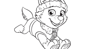 Small Picture PAW PatrolEverest Colouring Pages for Preschoolers Nick Jr UK