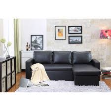 full size of sofas sectionals reversible chaise sectional sleeper sofa black faux leather upholstery