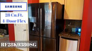 samsung black stainless fridge. Samsung 28 Cu. Ft. 4-Door Black Stainless Refrigerator Fridge A