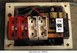 fuse wire stock photos fuse wire stock images alamy old style wire fuse box no fuses installed stock image