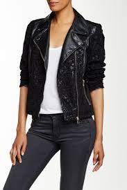 image of bale asymmetric faux leather jacket
