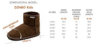 Dingo Boots Size Chart Dingo Brown Short Version