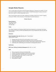 Resume Format For Hotel Job Cover Letter Bellman Resume Sample Hotel No Experience General 52