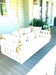 hanging porch swing bed image of outdoor in canopy swinging beautiful lively clearance thughout plans