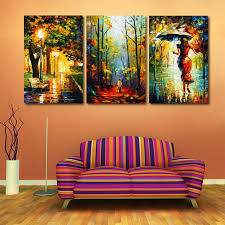 modern decor canvas painting abstract oil painting 3 piece street light tree wall pictures for living on 3 piece framed wall art for sale with modern decor canvas painting abstract oil painting 3 piece street